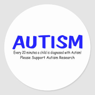 Every 20 Minutes A Child Is Born With Autism Sticker
