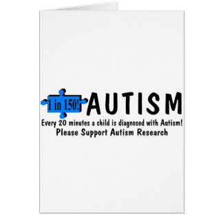 Every 20 Minutes A Child Is Diagnosed With Autism Card