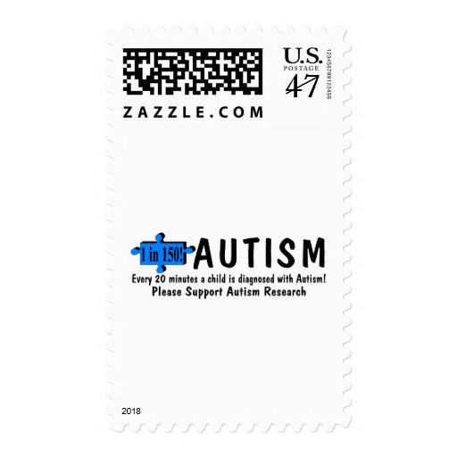 Every 20 Minutes A Child Is Diagnosed With Autism Stamp