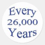 Every 26000 Years Classic Round Sticker