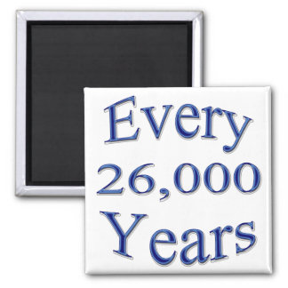 Every 26000 Years 2 Inch Square Magnet