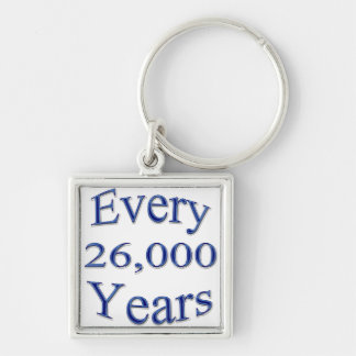 Every 26000 Years Silver-Colored Square Keychain