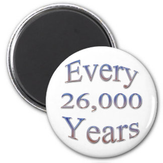 Every 26000 Yearsfade 2 Inch Round Magnet