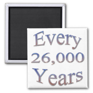 Every 26000 Yearsfade 2 Inch Square Magnet