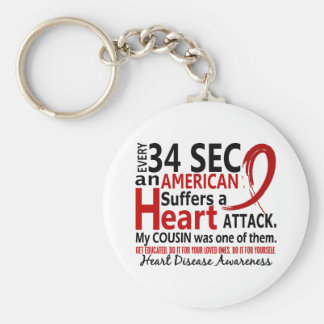 Every 34 Seconds Cousin Heart Disease / Attack Keychain