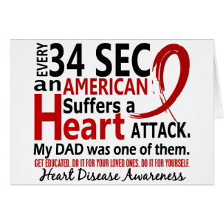 Every 34 Seconds Dad Heart Disease / Attack Cards