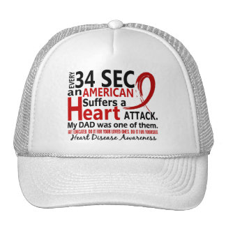 Every 34 Seconds Dad Heart Disease / Attack Mesh Hats
