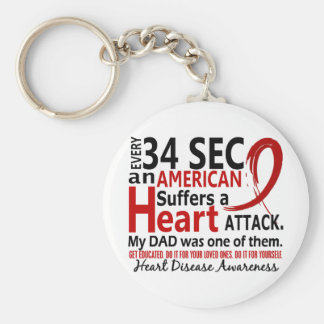 Every 34 Seconds Dad Heart Disease / Attack Keychain