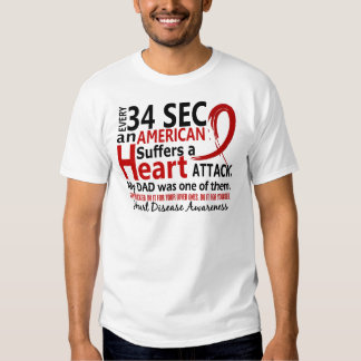 Every 34 Seconds Dad Heart Disease / Attack T Shirt