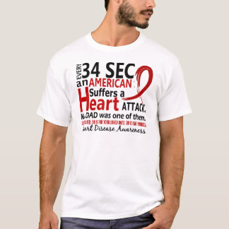 Every 34 Seconds Dad Heart Disease / Attack T-Shirt