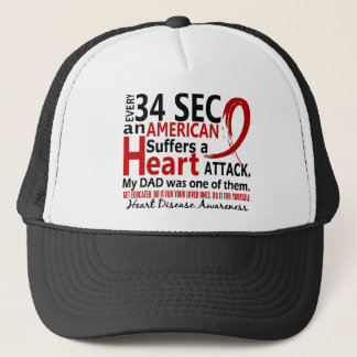 Every 34 Seconds Dad Heart Disease / Attack Trucker Hat