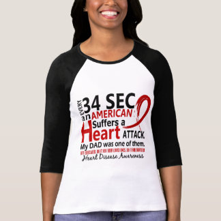 Every 34 Seconds Dad Heart Disease / Attack T-shirts