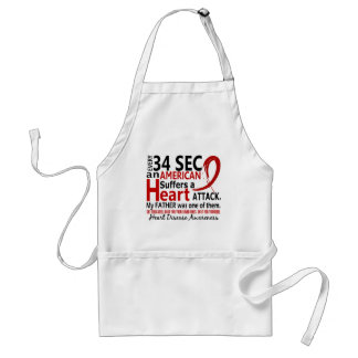 Every 34 Seconds Father Heart Disease / Attack Adult Apron
