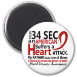 Every 34 Seconds Father Heart Disease / Attack Fridge Magnet