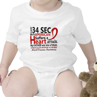Every 34 Seconds Father Heart Disease / Attack Romper