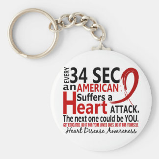 Every 34 Seconds Heart Disease / Attack Key Chain