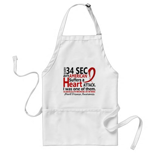 Every 34 Seconds Me Heart Disease / Attack Adult Apron