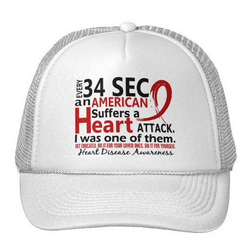 Every 34 Seconds Me Heart Disease / Attack Trucker Hat