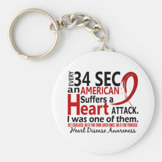 Every 34 Seconds Me Heart Disease / Attack Key Chain