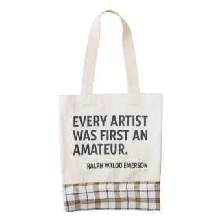 Every artist was first an amateur zazzle HEART tote bag