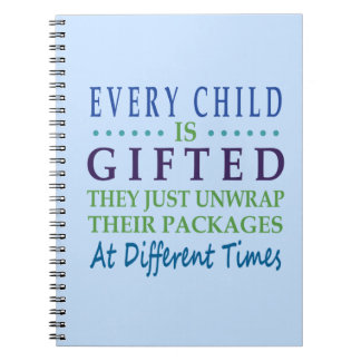 Every Autistic Child is Gifted Spiral Notebook