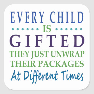 Every Autistic Child is Gifted Square Sticker