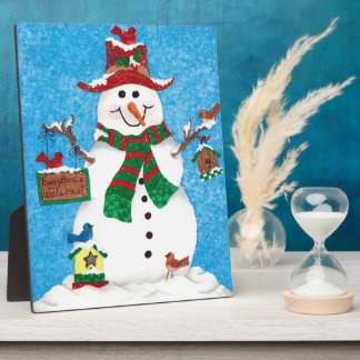Every Birdie Welcome - Christmas Snowman Plaque