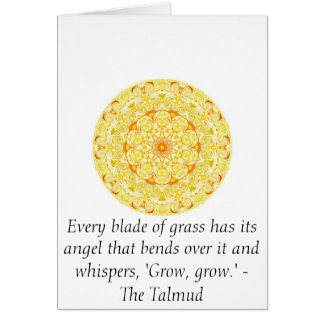 Every blade of grass has its angel that bends..... greeting card