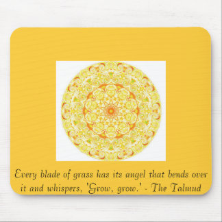 Every blade of grass has its angel that bends..... mouse pad