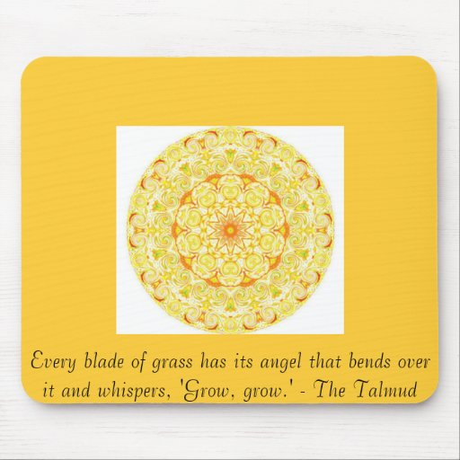 Every blade of grass has its angel that bends..... mouse pads