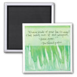 every blade of grass square magnet