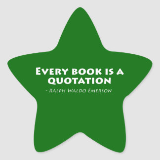 Every Book Is A Quotation Star Sticker