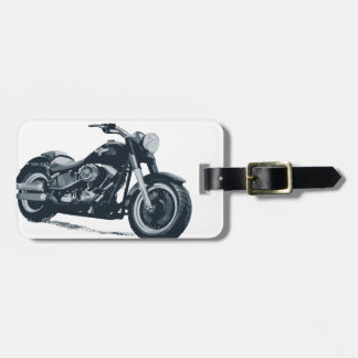 Every Boy loves a Fat Blue American Motorcycle Bag Tag