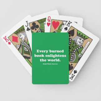 Every Burned Book Enlightens The World Card Deck