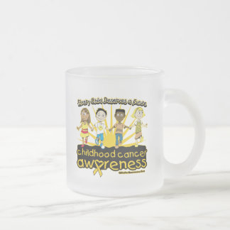 Every Child Deserves A Future Childhood Cancer 10 Oz Frosted Glass Coffee Mug