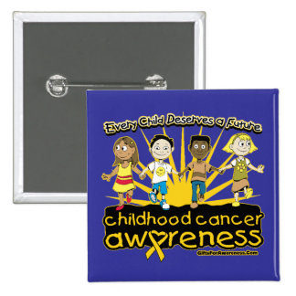Every Child Deserves A Future Childhood Cancer Pinback Button
