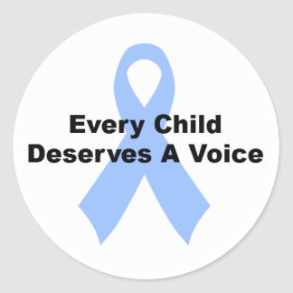 Every Child Deserves A Voice Classic Round Sticker