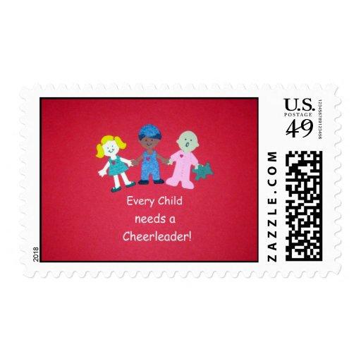 Every Child needs a Cheerleader! Stamp