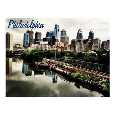 Juklee Every cities skyline... Philadelphia Postcard