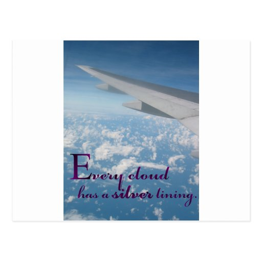 every cloud has a silver lining design 2.png postcard