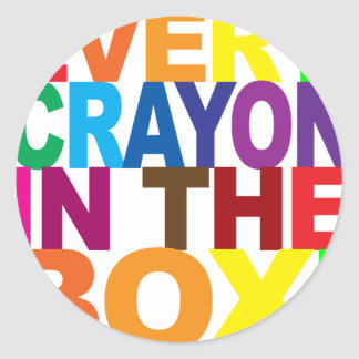 Every Crayon in the Box Classic Round Sticker