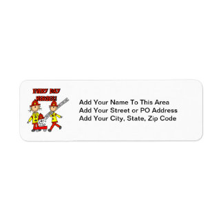 Every Day Heroes Firefighters T-shirts and Gifts Return Address Label