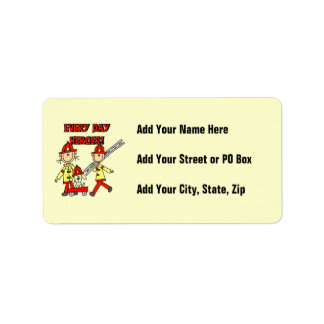 Every Day Heroes Firefighters T-shirts and Gifts Address Label