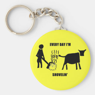 Every day I'm shovelin' Life road sign Basic Round Button Keychain