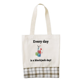 Every Day Is A Blackjack Day Zazzle HEART Tote Bag