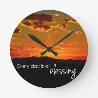 Every Day is a Blessing Wall Clocks