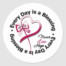 Every Day is a Blessing - Head and Neck Cancer Classic Round Sticker