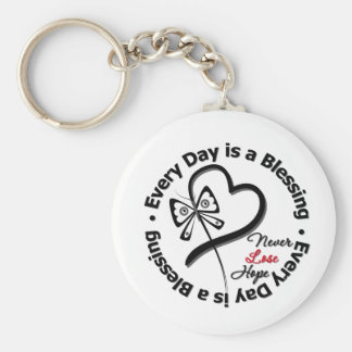 Every Day is a Blessing - Hope Melanoma Basic Round Button Keychain