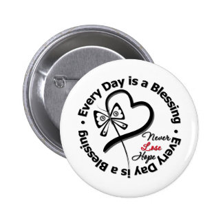 Every Day is a Blessing - Hope Melanoma Pinback Button