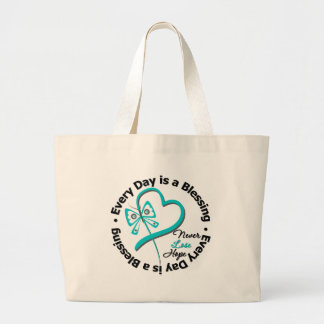 Every Day is a Blessing - Hope Ovarian Cancer Canvas Bag